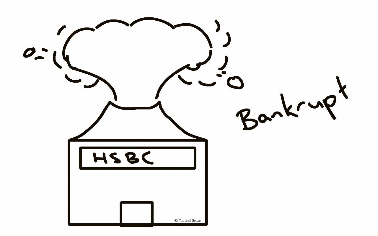 Tut and Groan Bankrupt cartoon