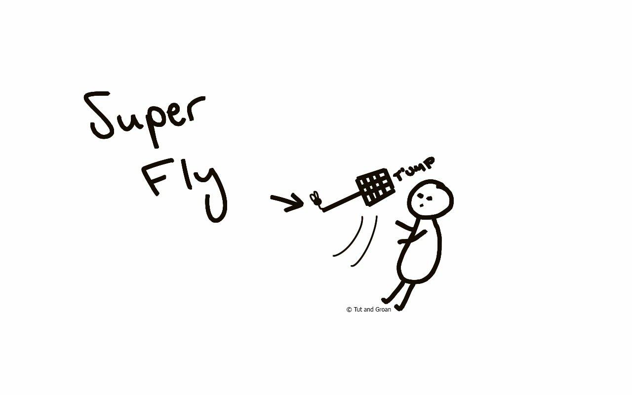 Tut and Groan Superfly cartoon