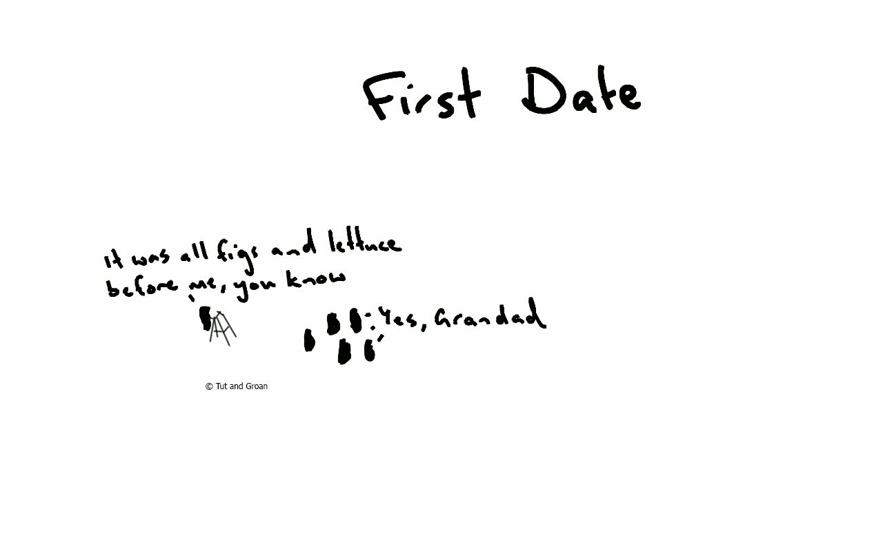 Tut and Groan First Date cartoon