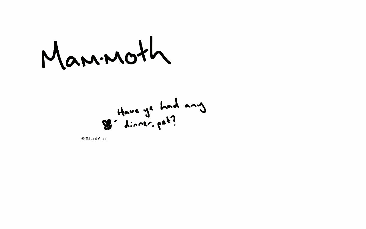 Tut and Groan Mammoth cartoon