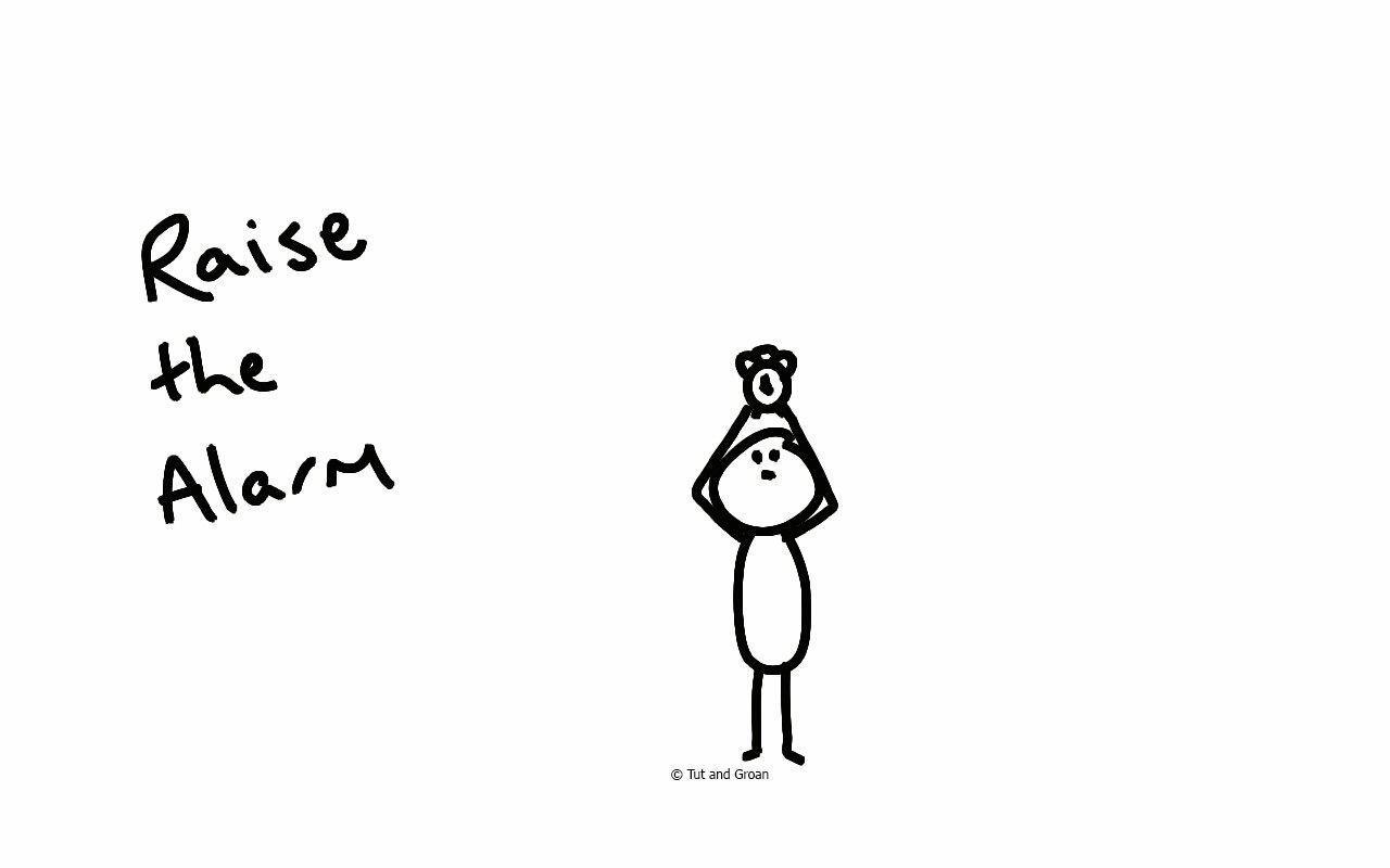 Tut and Groan Raise the Alarm cartoon