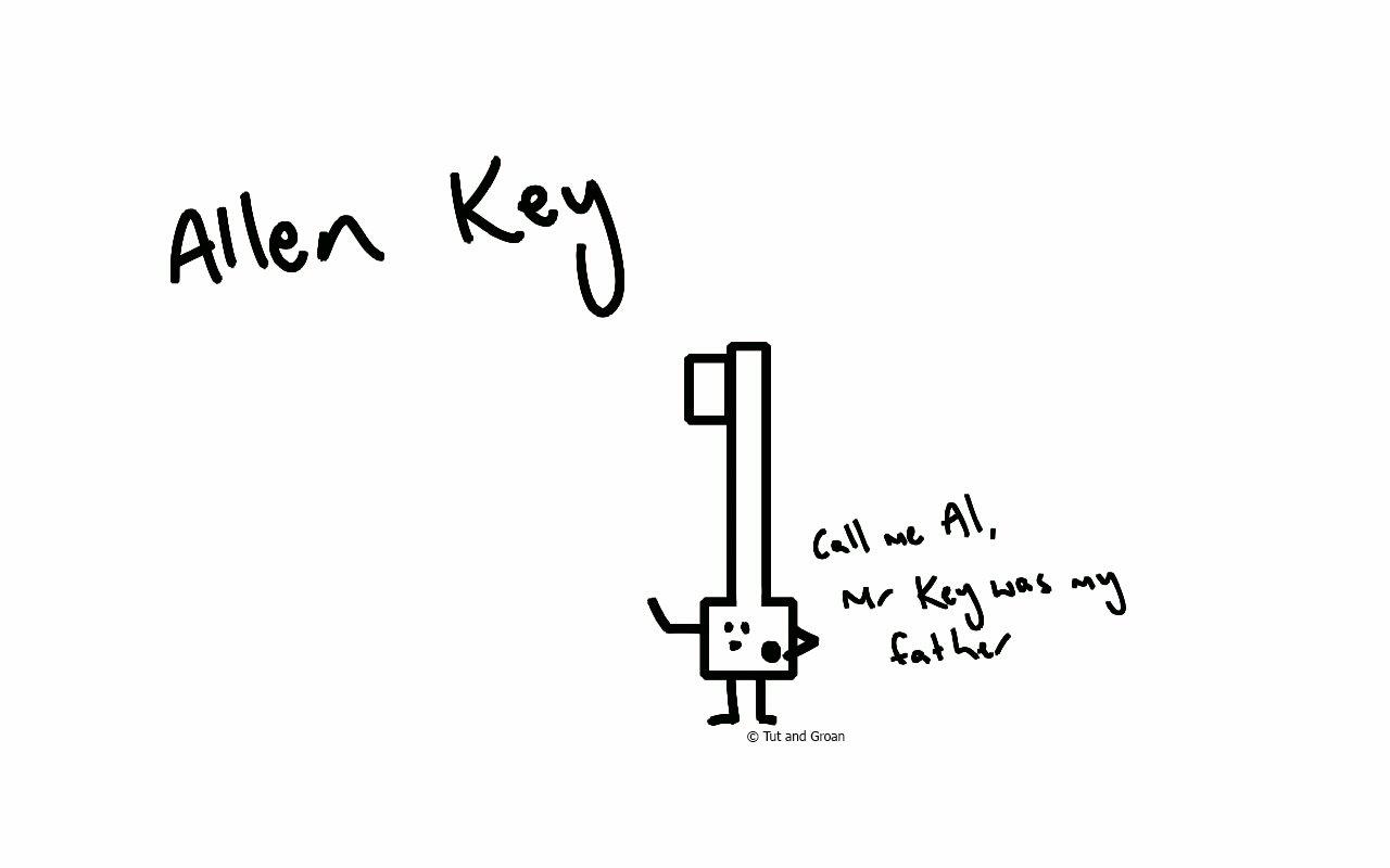 Tut and Groan Allen Key cartoon