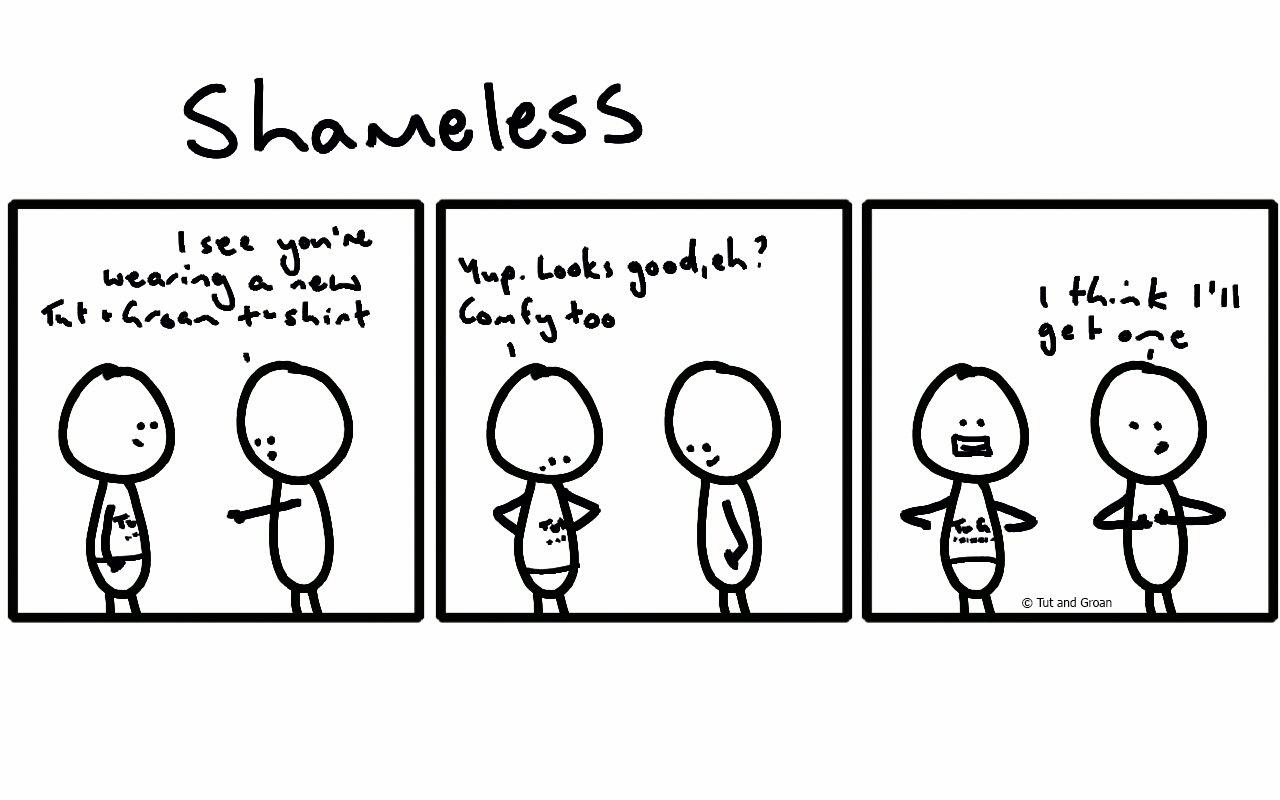 Tut and Groan Three Panels Shameless cartoon