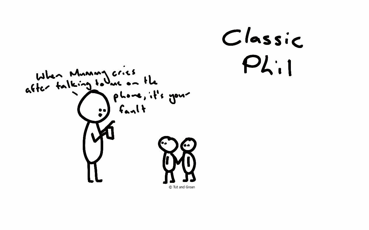 Tut and Groan Classic Phil cartoon