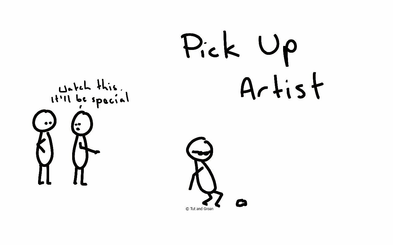 Tut and Groan Pick Up Artist cartoon