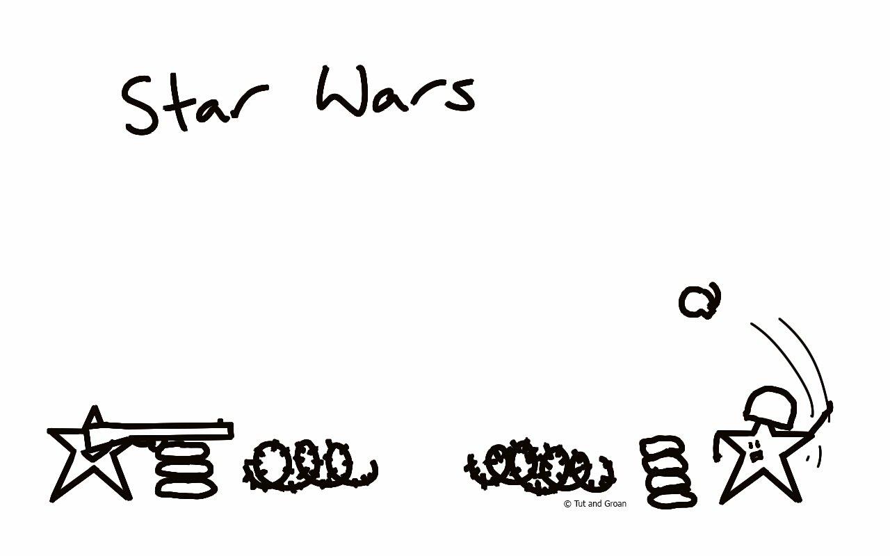 Tut and Groan Star Wars cartoon