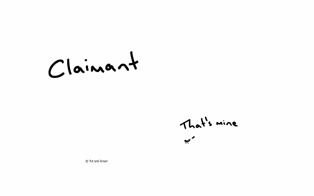 Tut and Groan Claimant cartoon