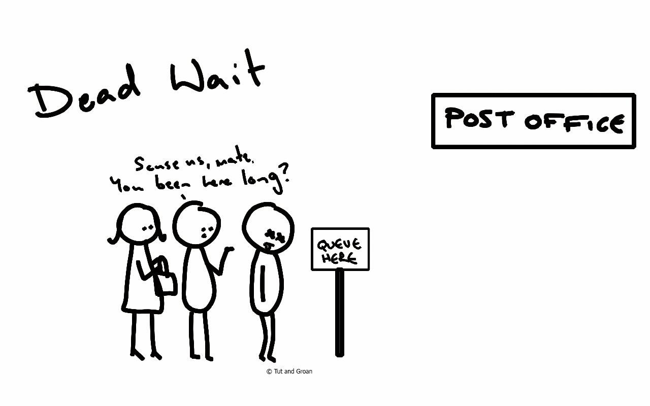 Tut and Groan Dead Wait cartoon
