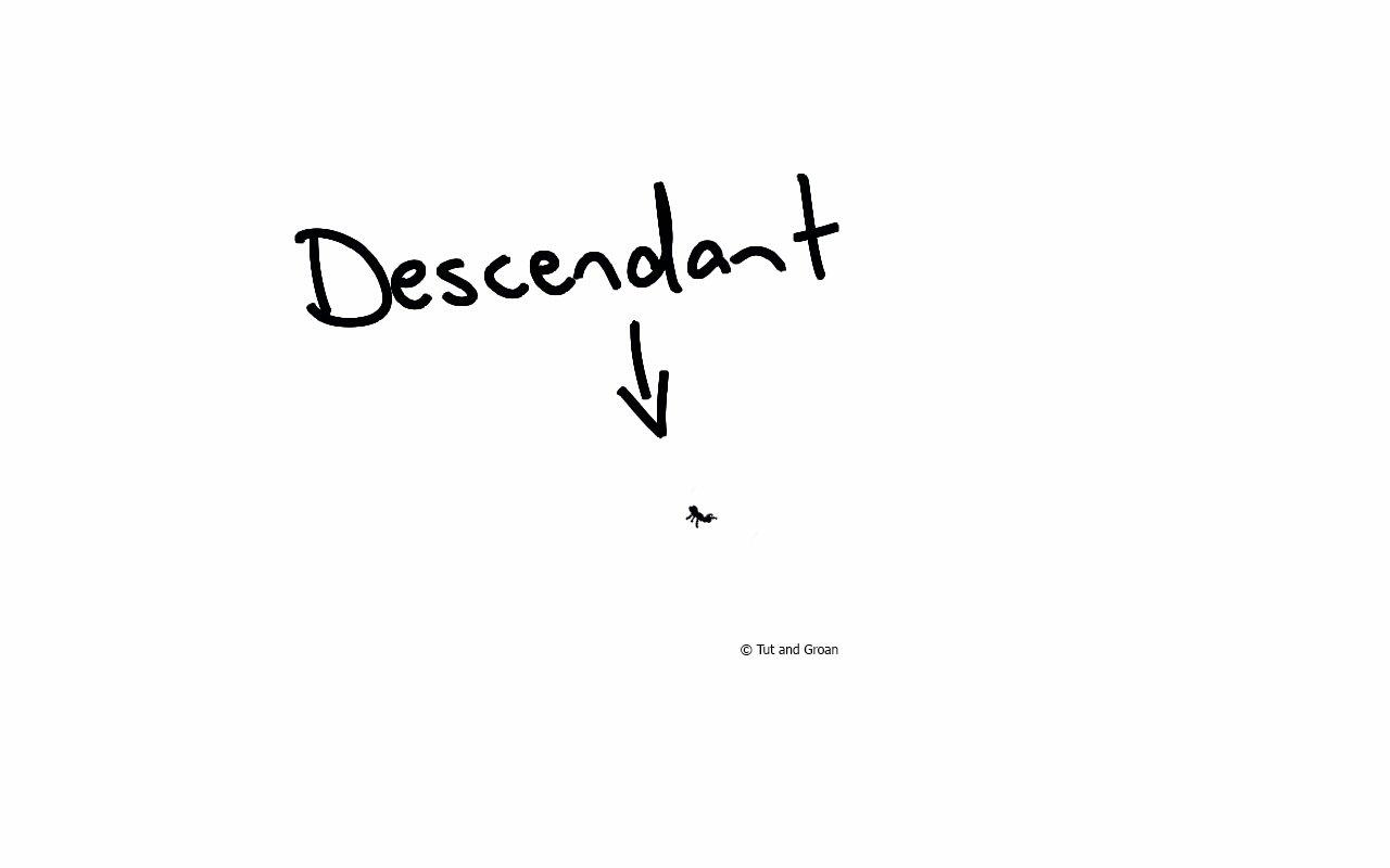 Tut and Groan Descendant cartoon