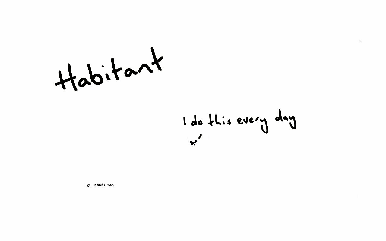 Tut and Groan Habitant cartoon