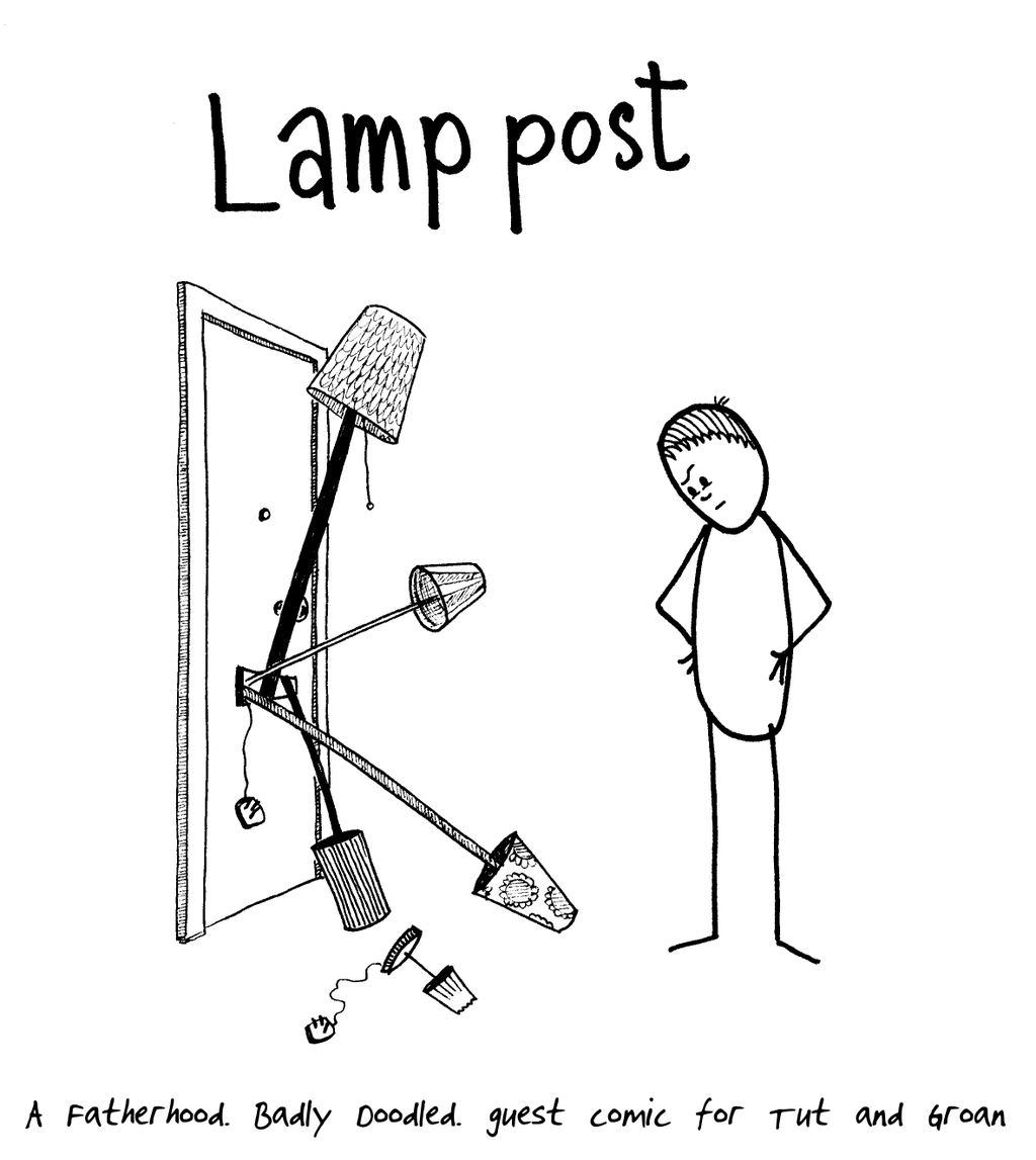 Tut and Groan Guest Toon Lamp Post by Badly Doodled cartoon