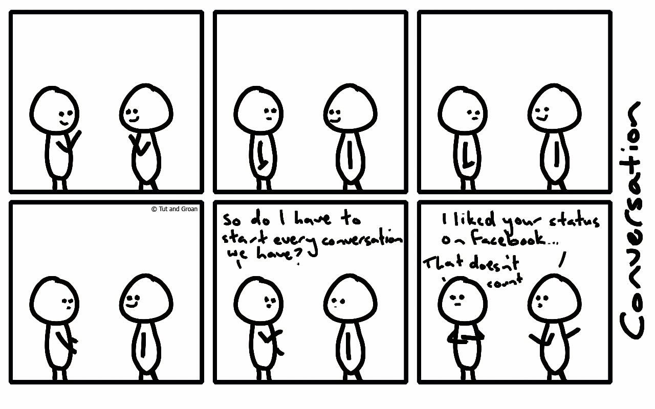 Tut and Groan Six Panels: Conversation cartoon