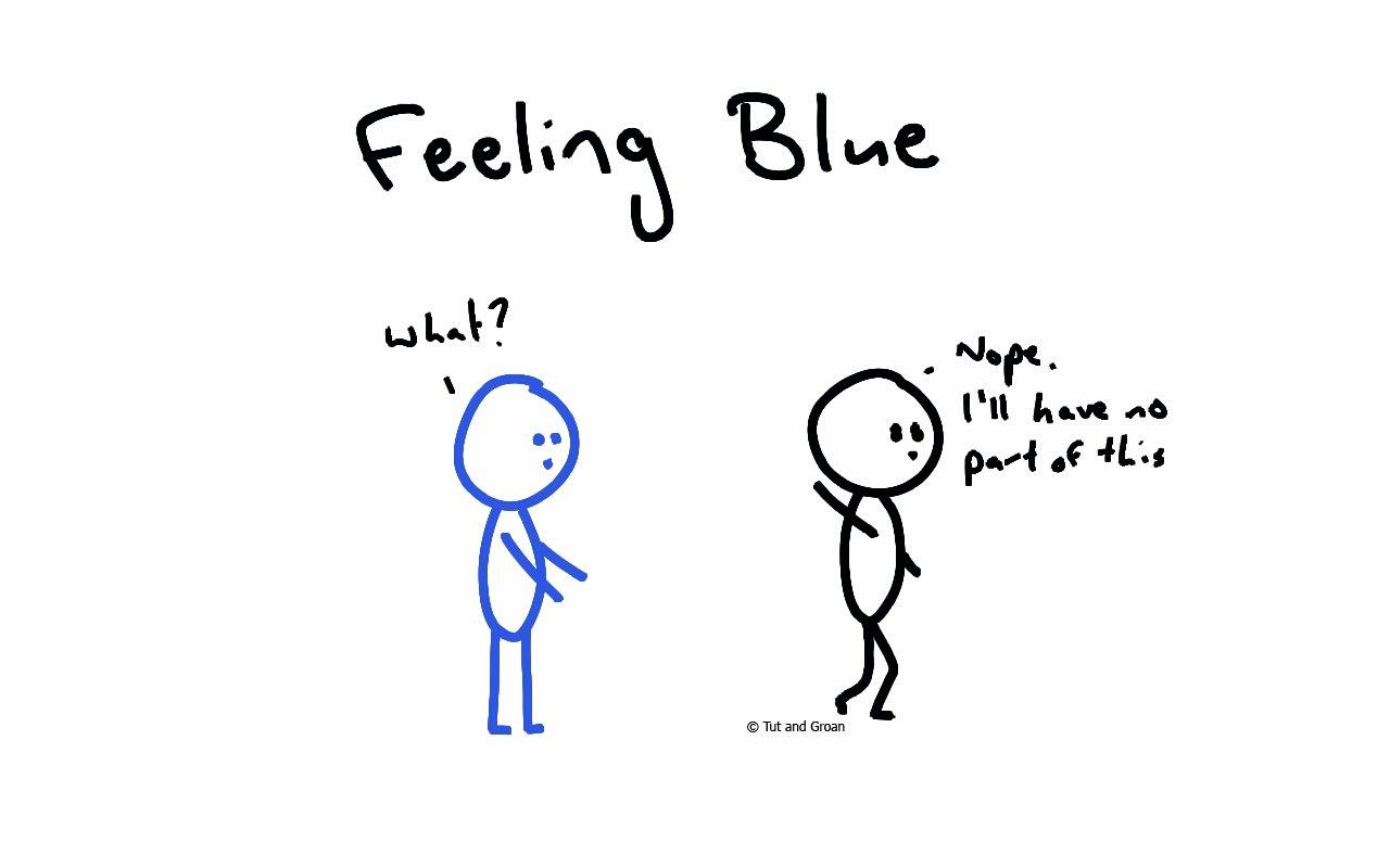 Tut and Groan Feeling Blue cartoon
