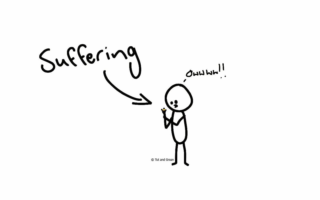 Tut and Groan Suffering cartoon