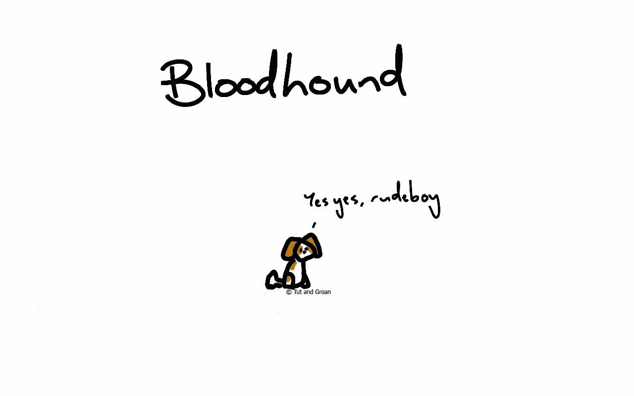 Tut and Groan Bloodhound cartoon