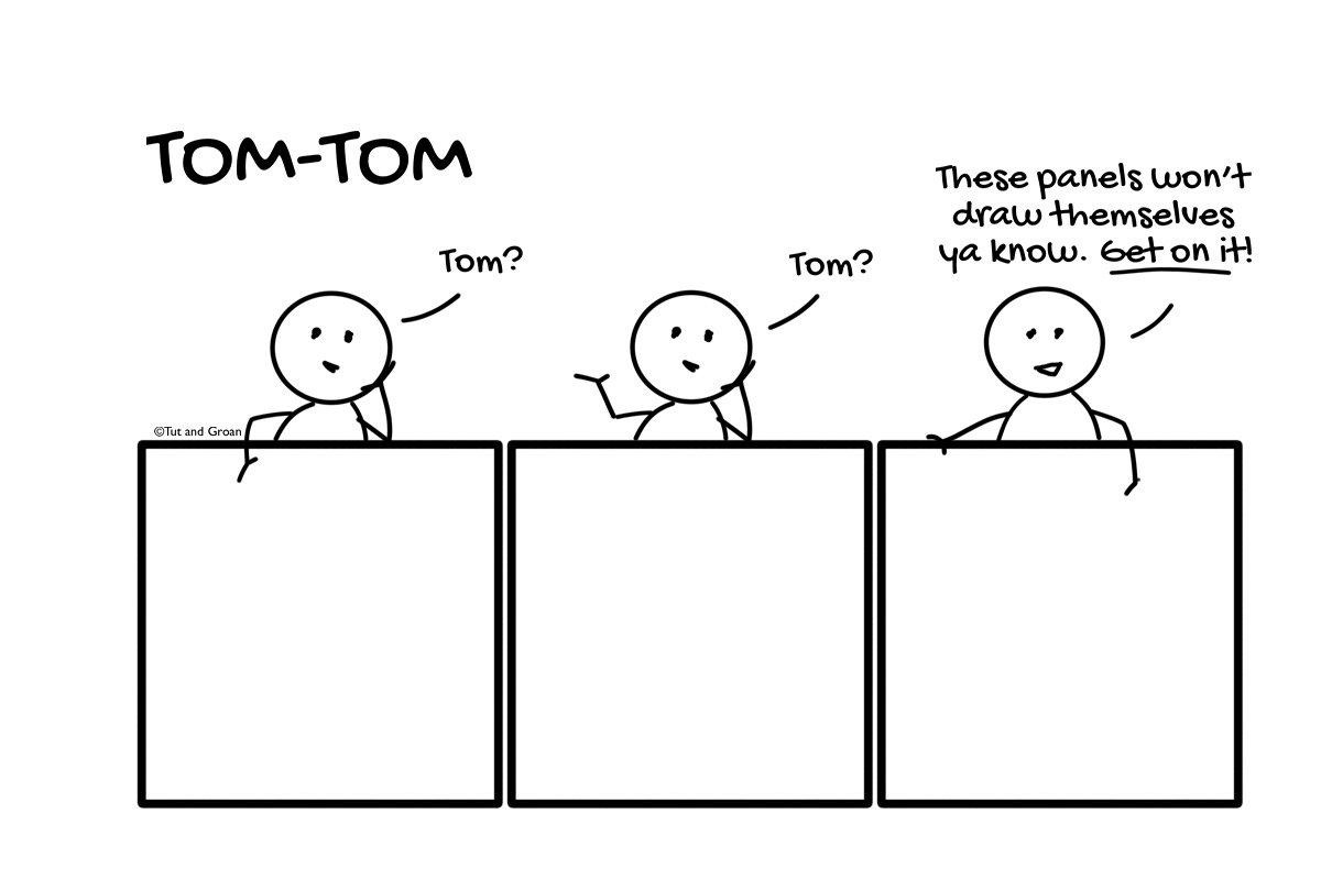 Tut and Groan Guest Toon Tom-Tom by I Has Kid cartoon