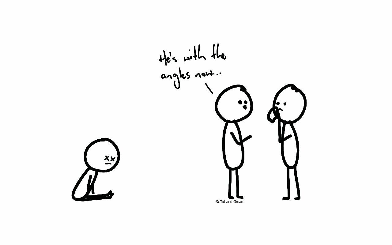 Tut and Groan Angles cartoon