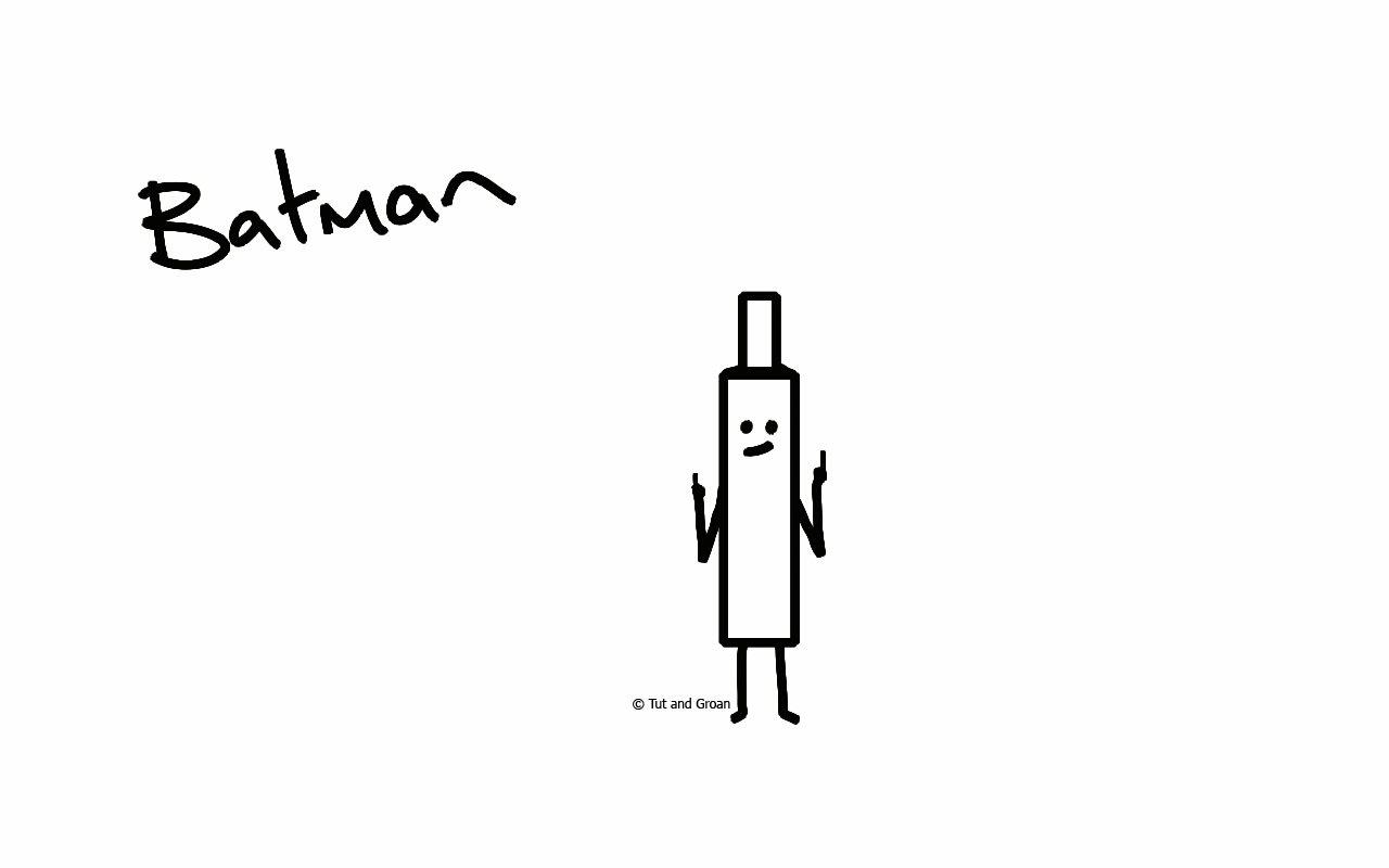 Tut and Groan Batman cartoon