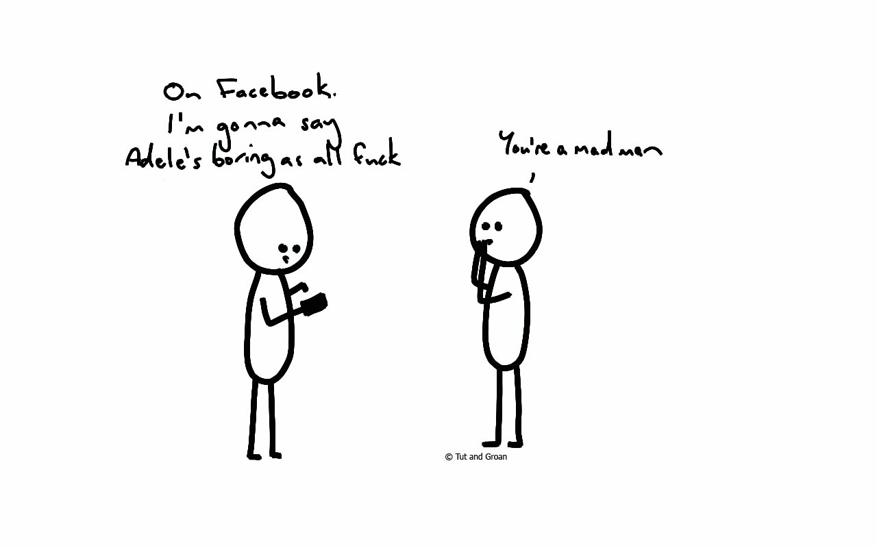 Tut and Groan Adele cartoon