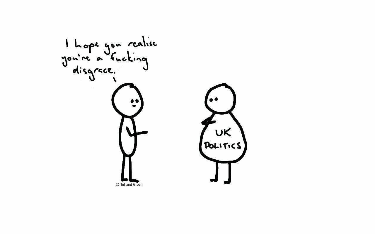 Tut and Groan UK Politics cartoon