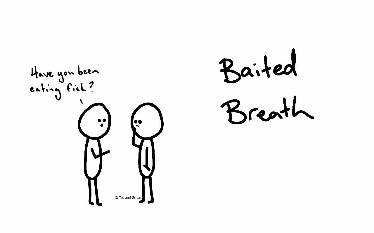 Tut and Groan Baited Breath cartoon