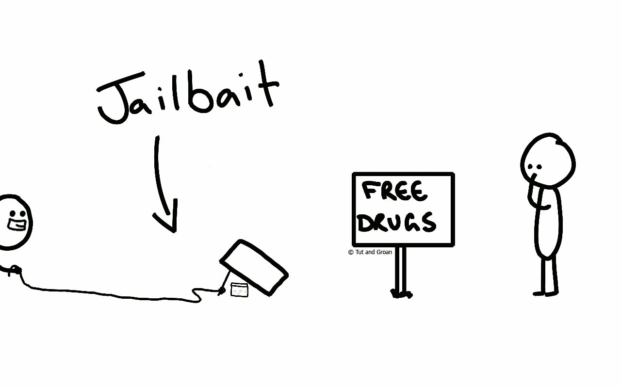 Tut and Groan Jailbait cartoon