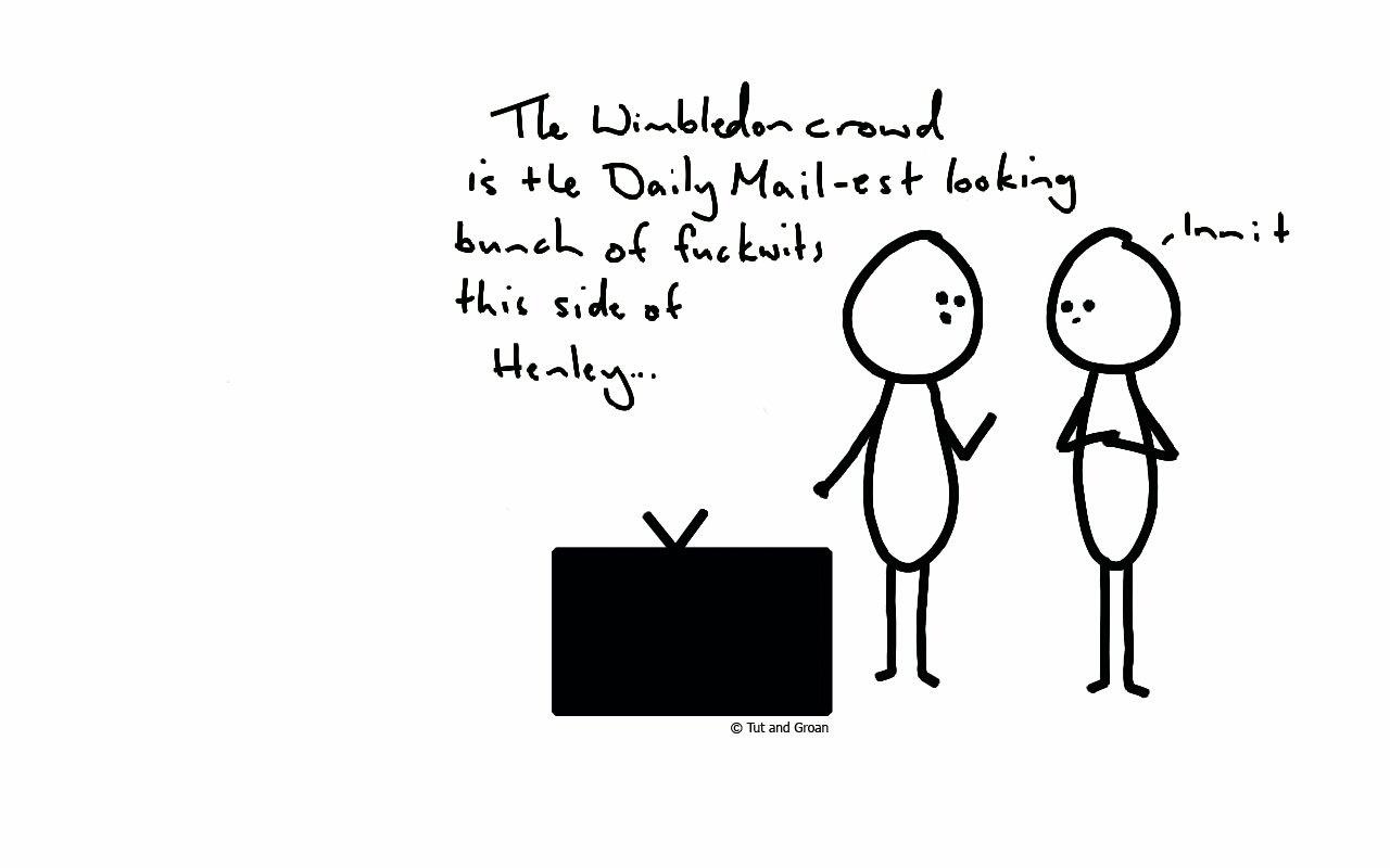 Tut and Groan Wimbledon cartoon