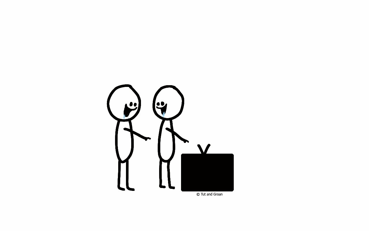 Tut and Groan Television Advertising cartoon