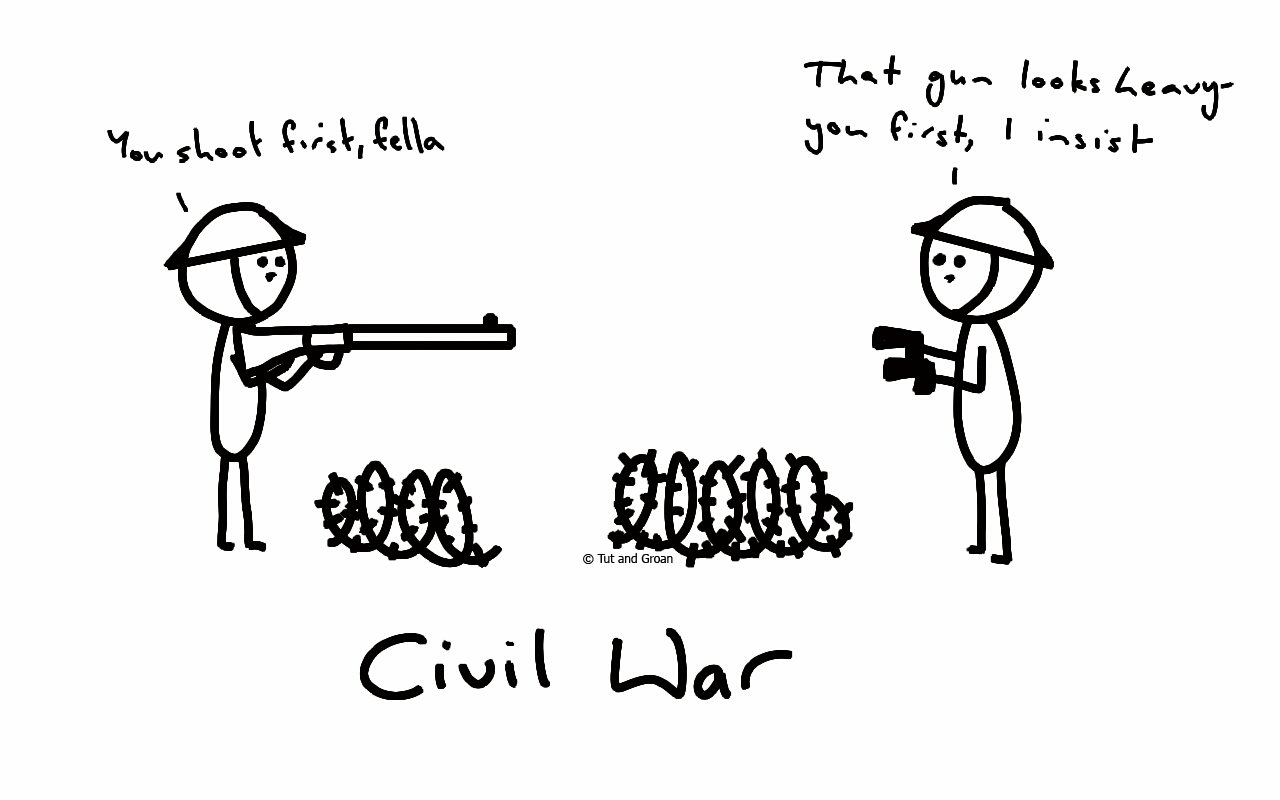 Tut and Groan Civil War cartoon