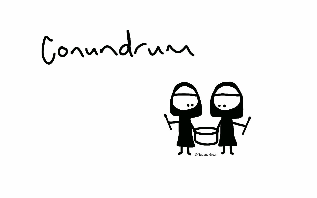 Tut and Groan Conundrum cartoon