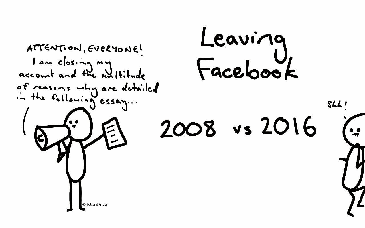 Tut and Groan Leaving Facebook cartoon