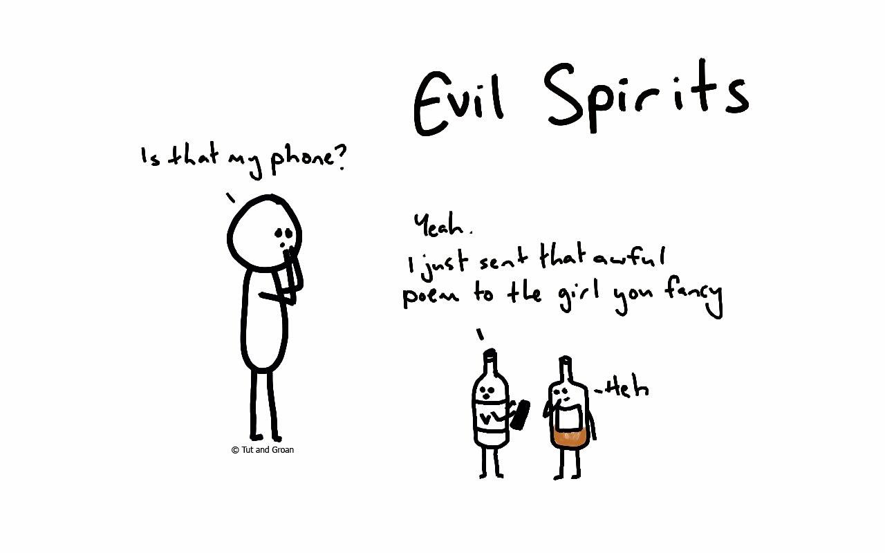 Tut and Groan Evil Spirits cartoon