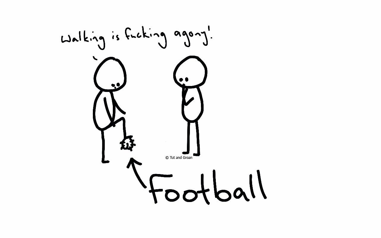 Tut and Groan Football cartoon