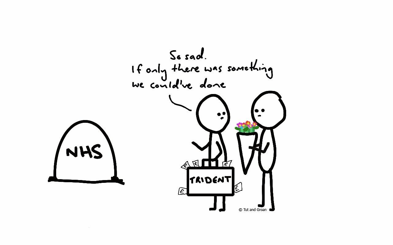 Tut and Groan NHS cartoon