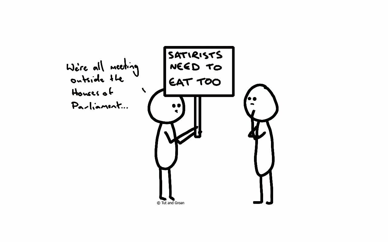 Tut and Groan UK Politics and Satire cartoon