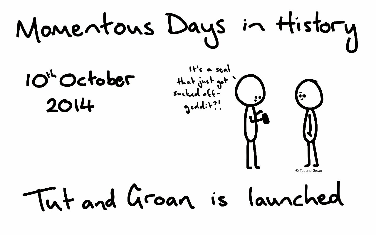 Tut and Groan Is Two Years Old cartoon