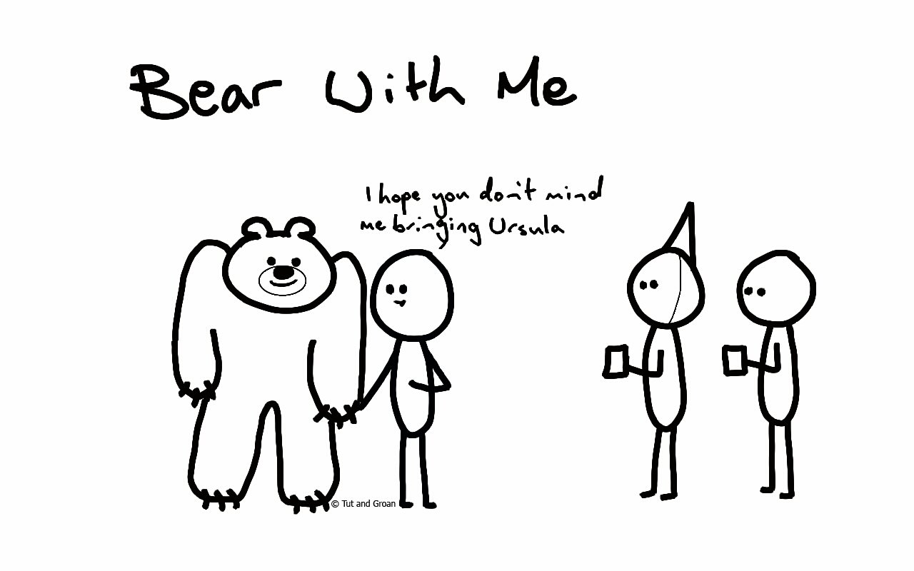 Tut and Groan Bear With Me cartoon