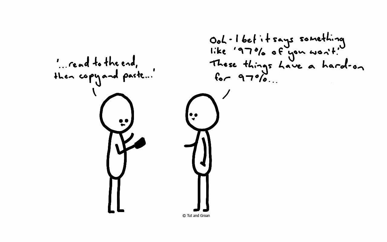 Tut and Groan Ninety-Seven Percent cartoon