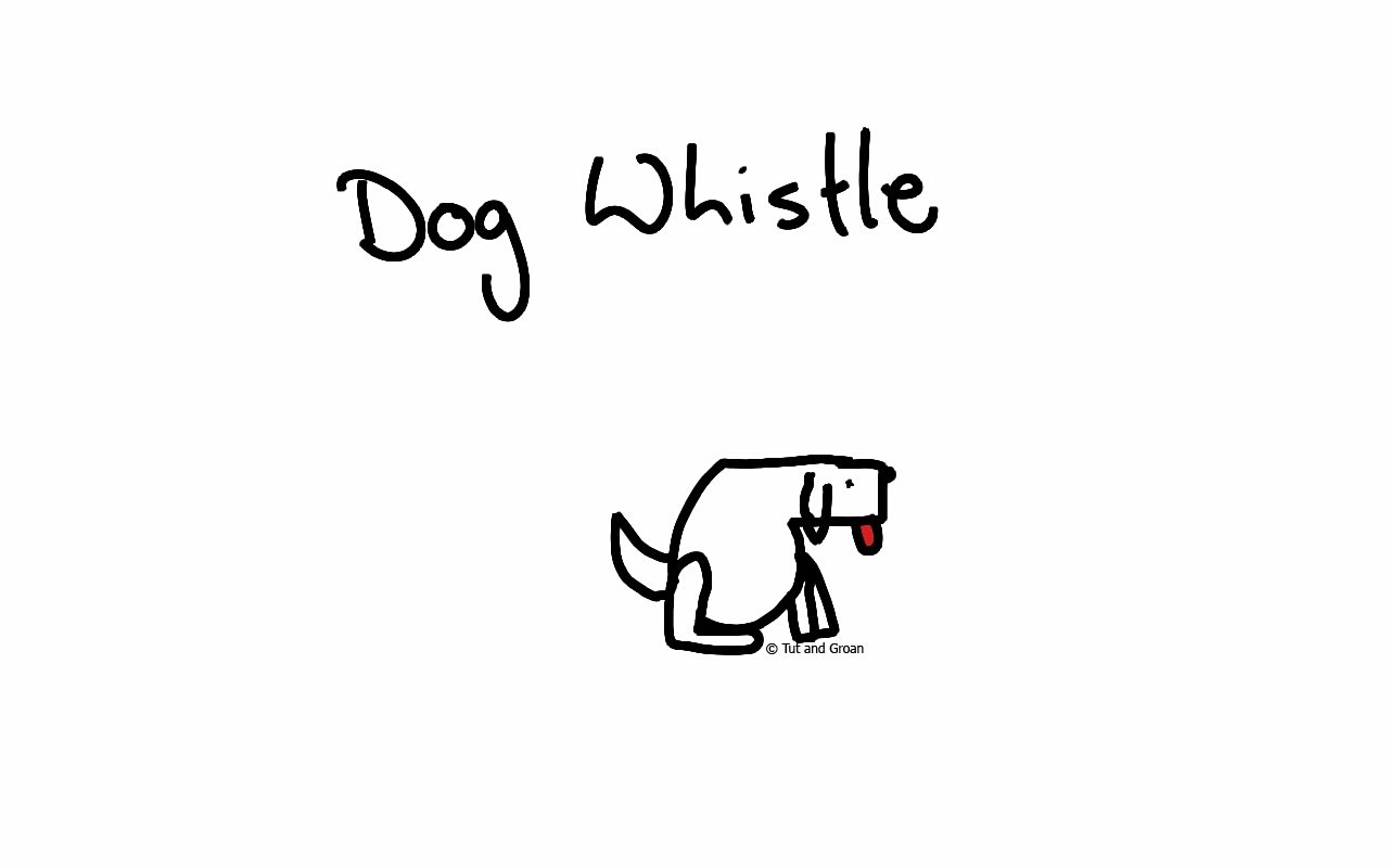 Tut and Groan Dog Whistle cartoon