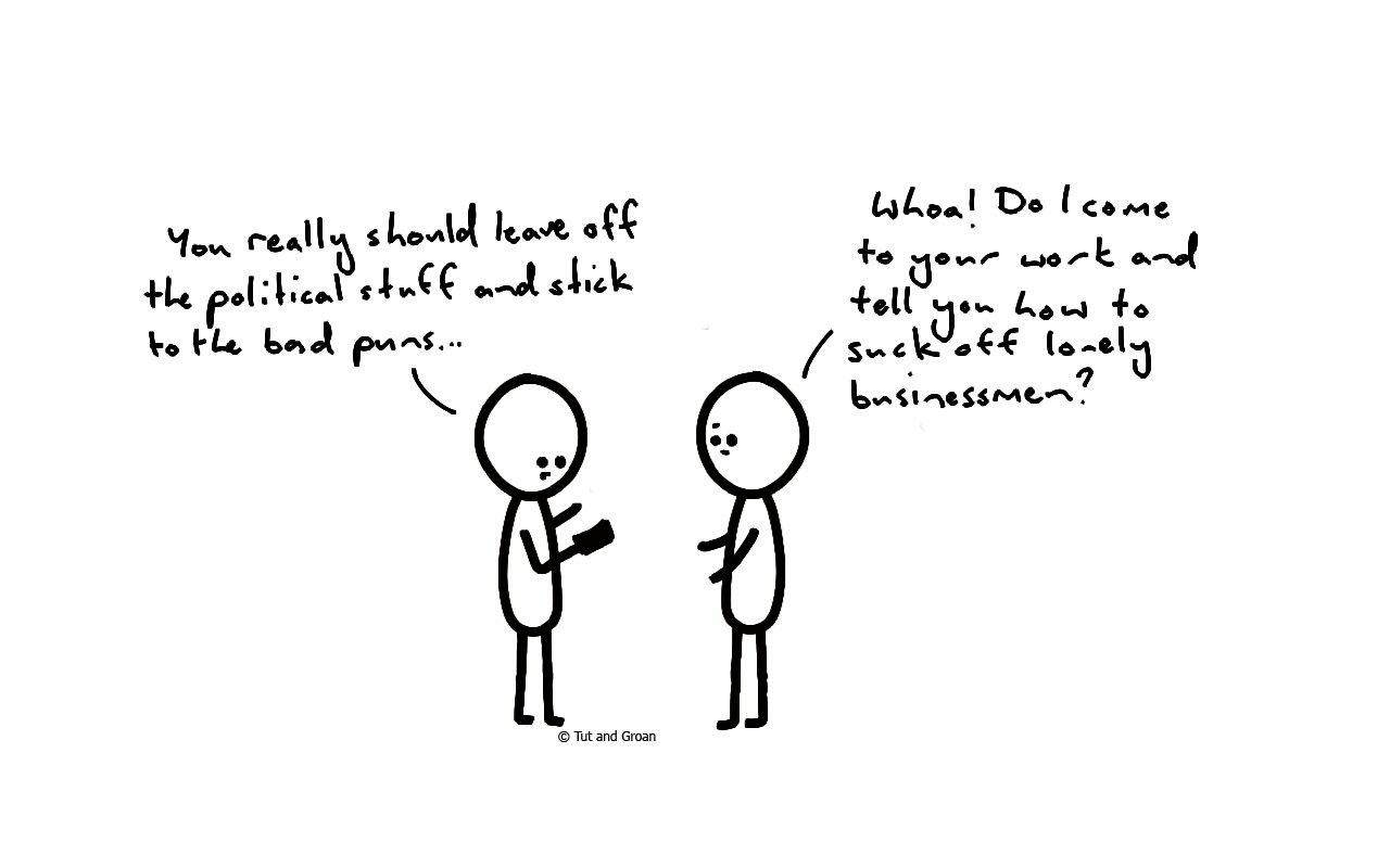 Tut and Groan Everyone's a Critic cartoon