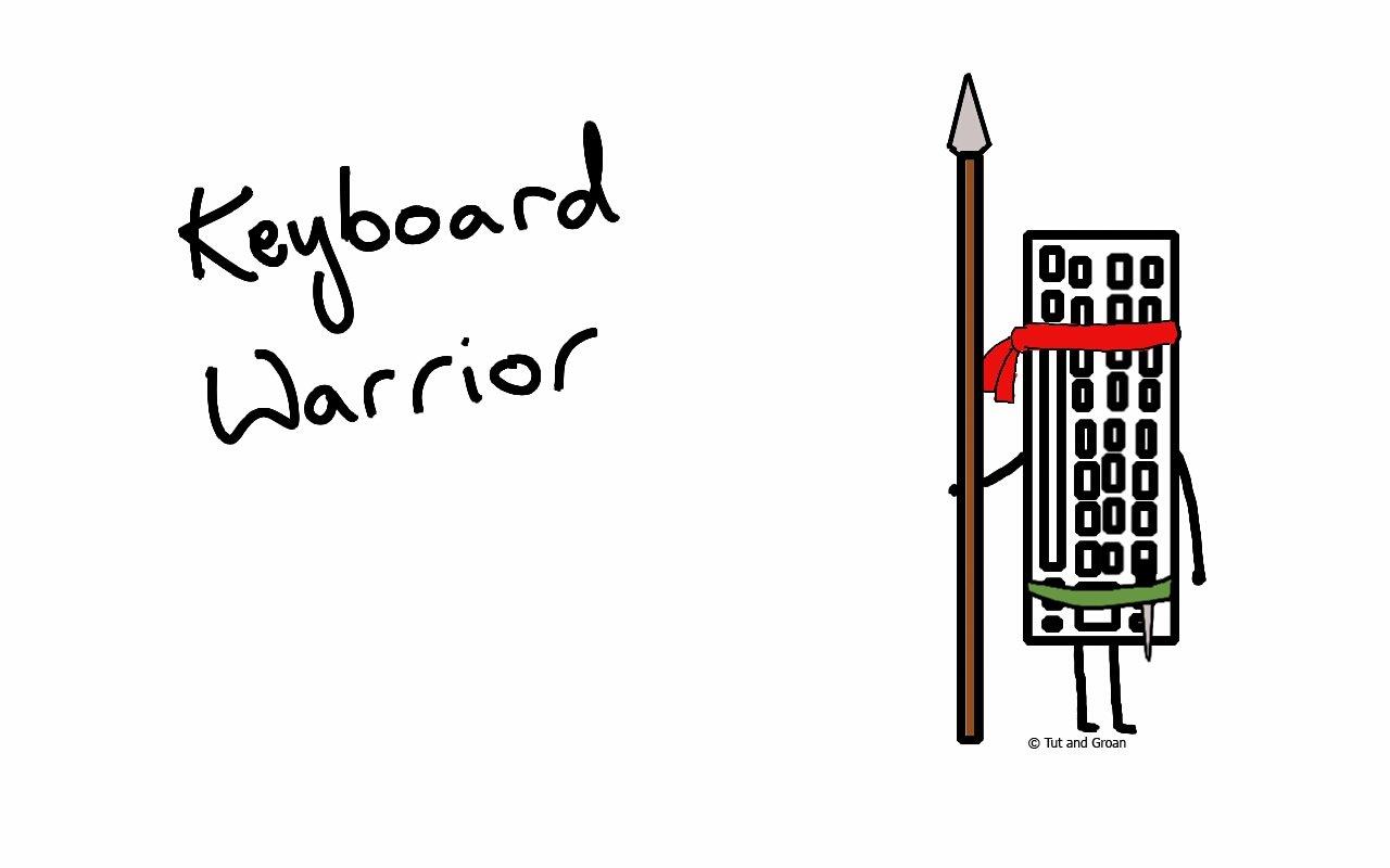 Tut and Groan Keyboard Warrior cartoon