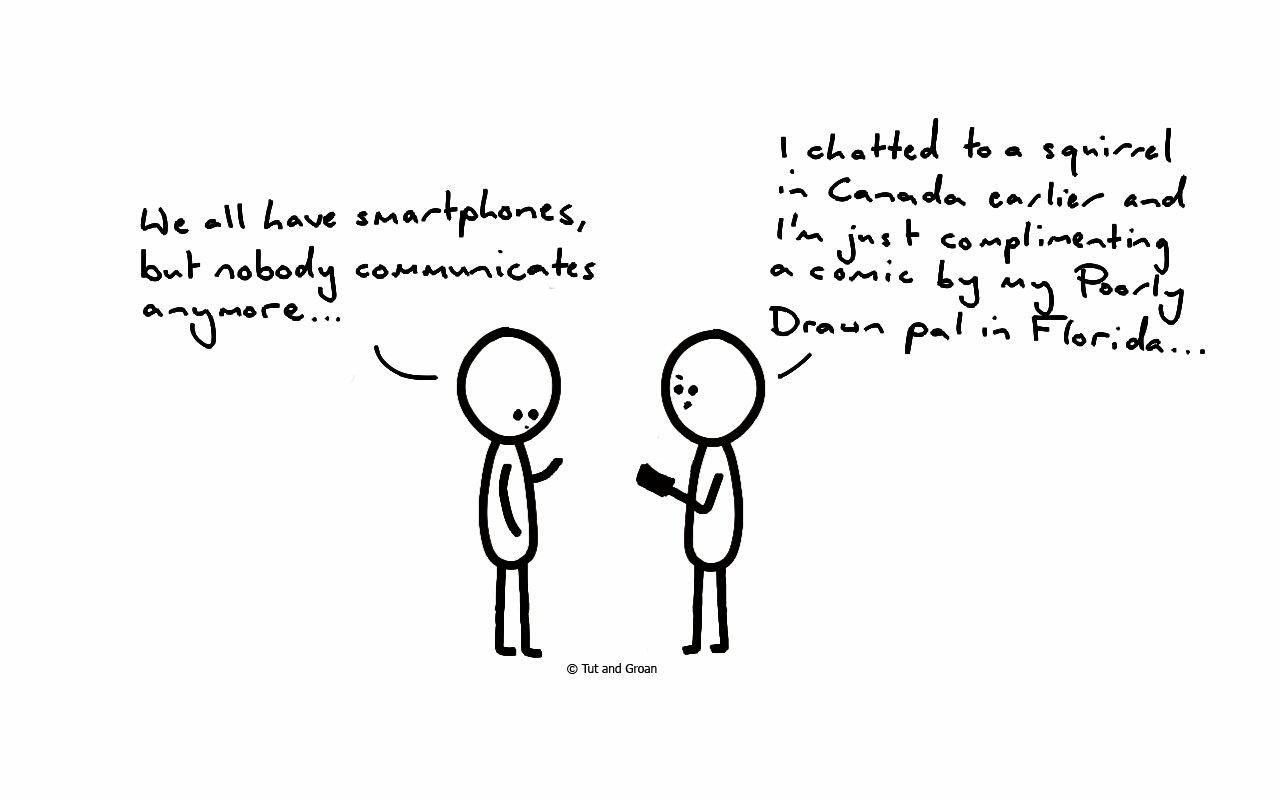 Tut and Groan Smartphones cartoon