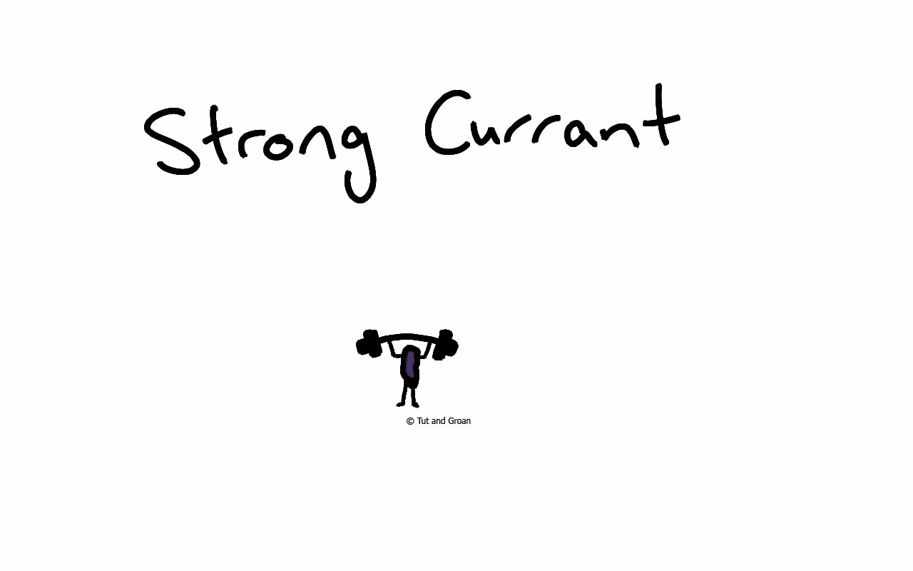 Tut and Groan Strong Currant cartoon