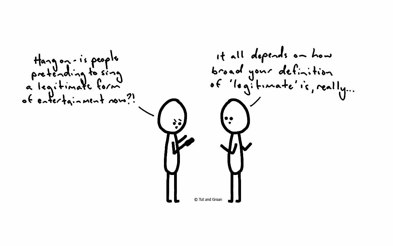 Tut and Groan Lip Sync cartoon