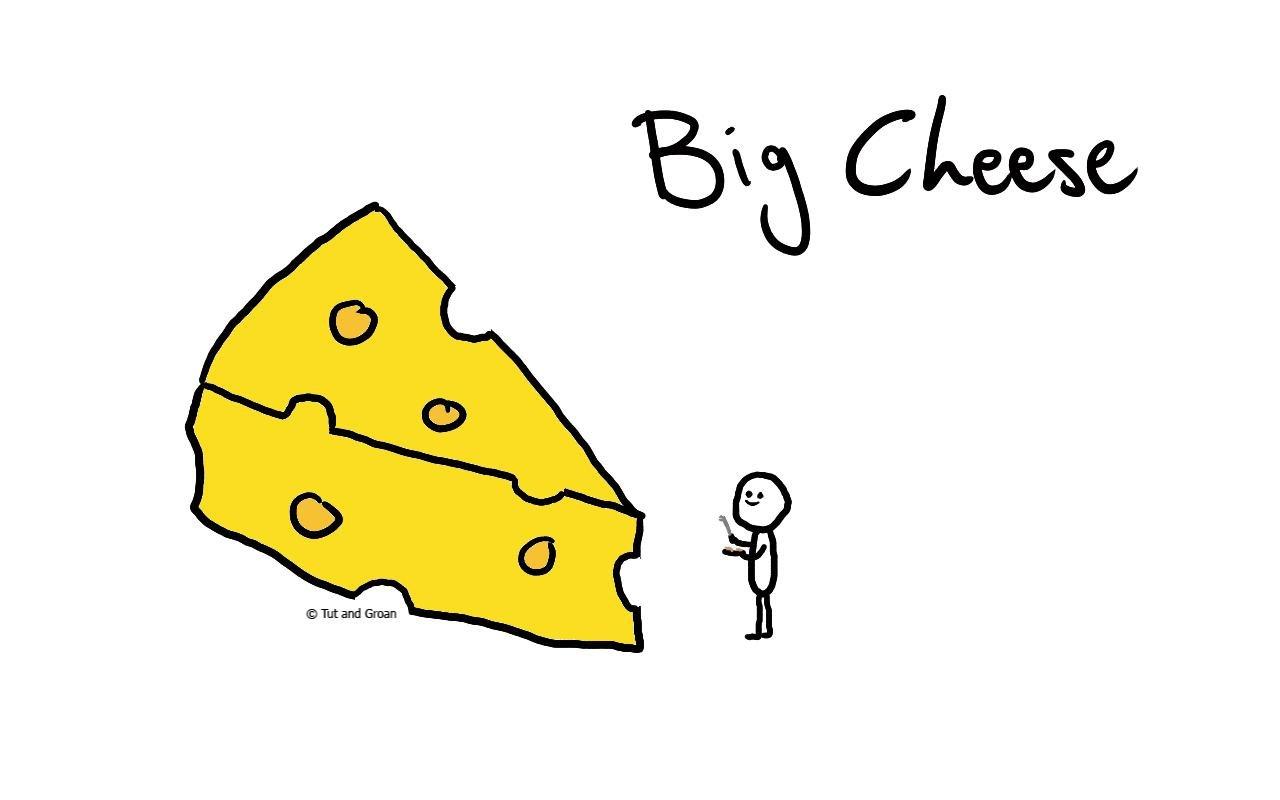 Tut and Groan Big Cheese cartoon