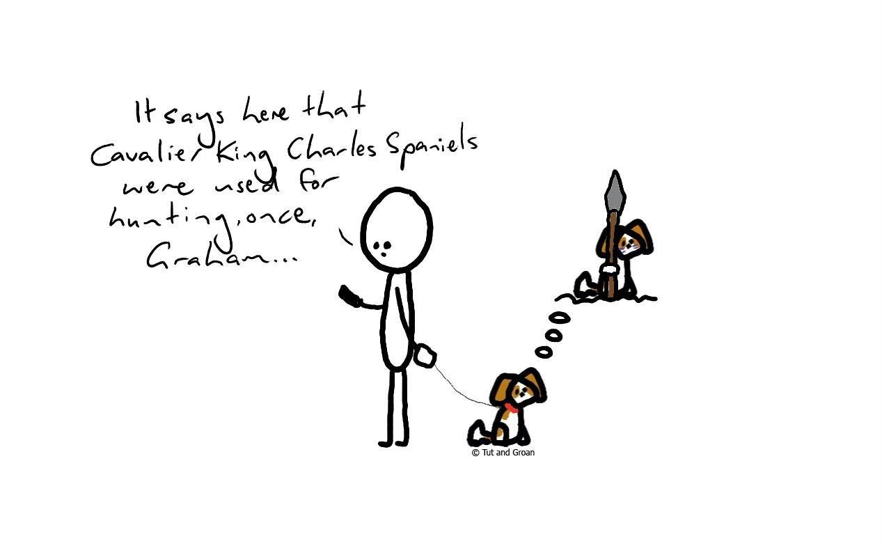Tut and Groan Hunting cartoon
