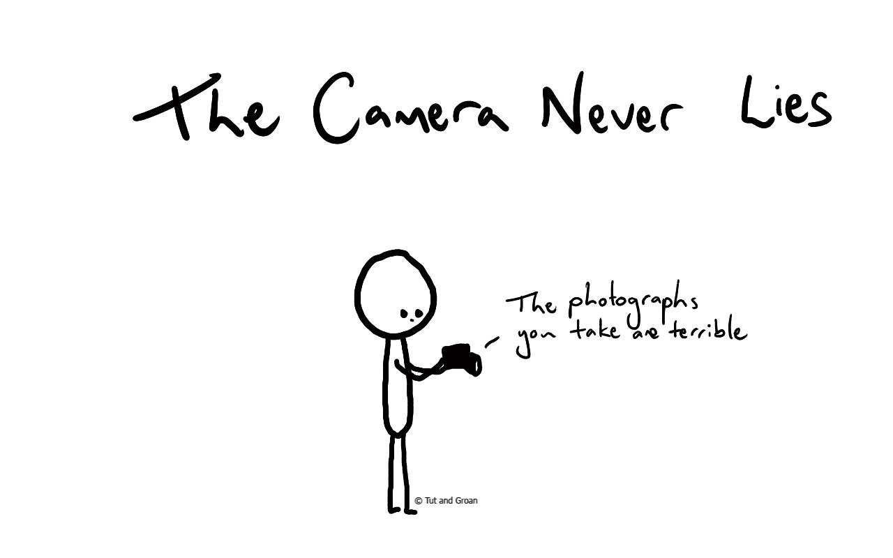 Tut and Groan The Camera Never Lies cartoon