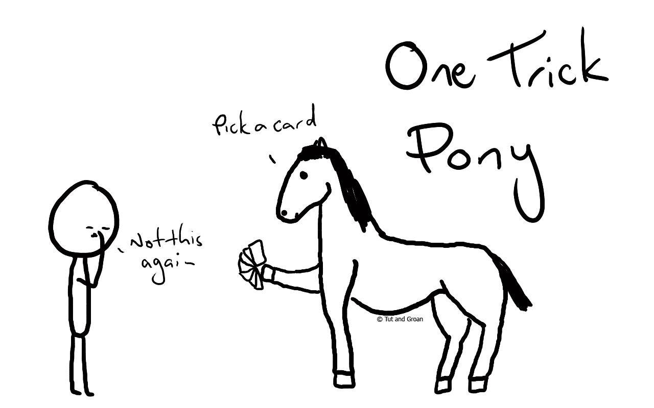 Tut and Groan One Trick Pony cartoon