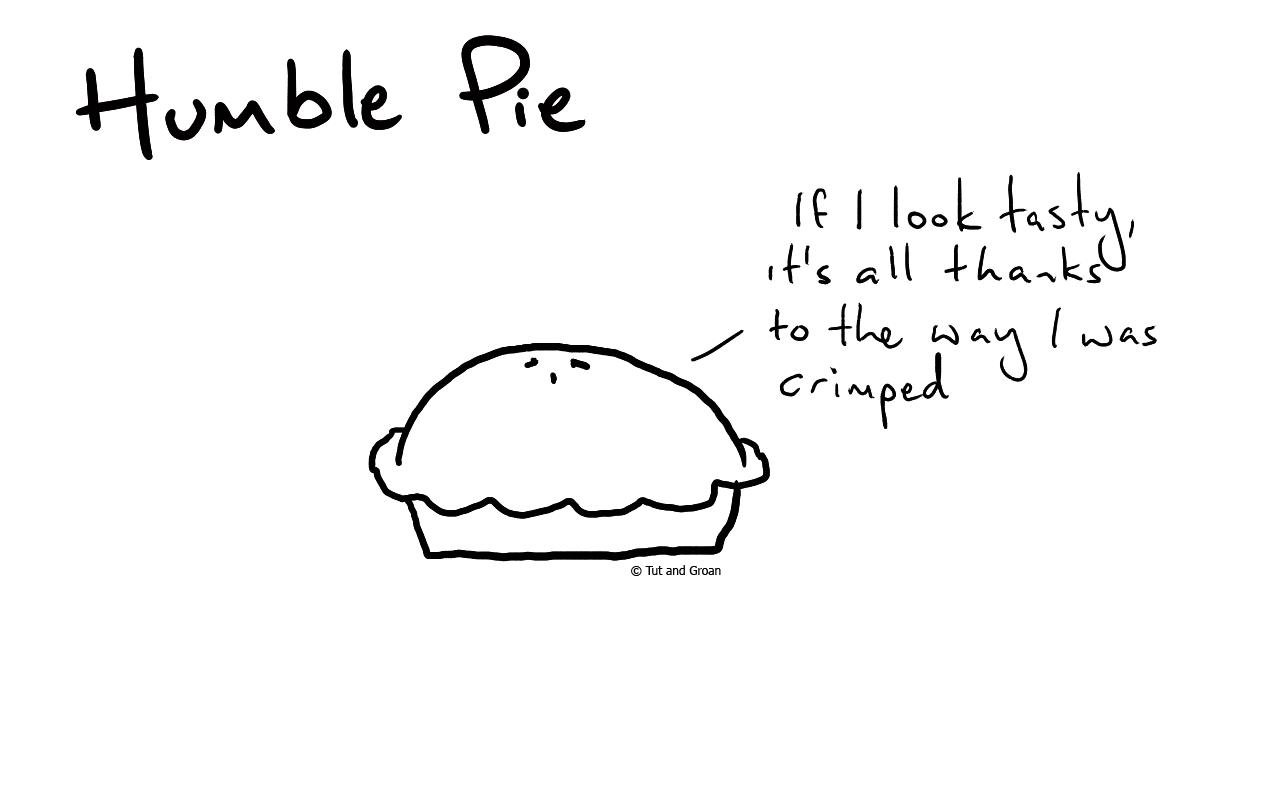 Tut and Groan Humble Pie cartoon
