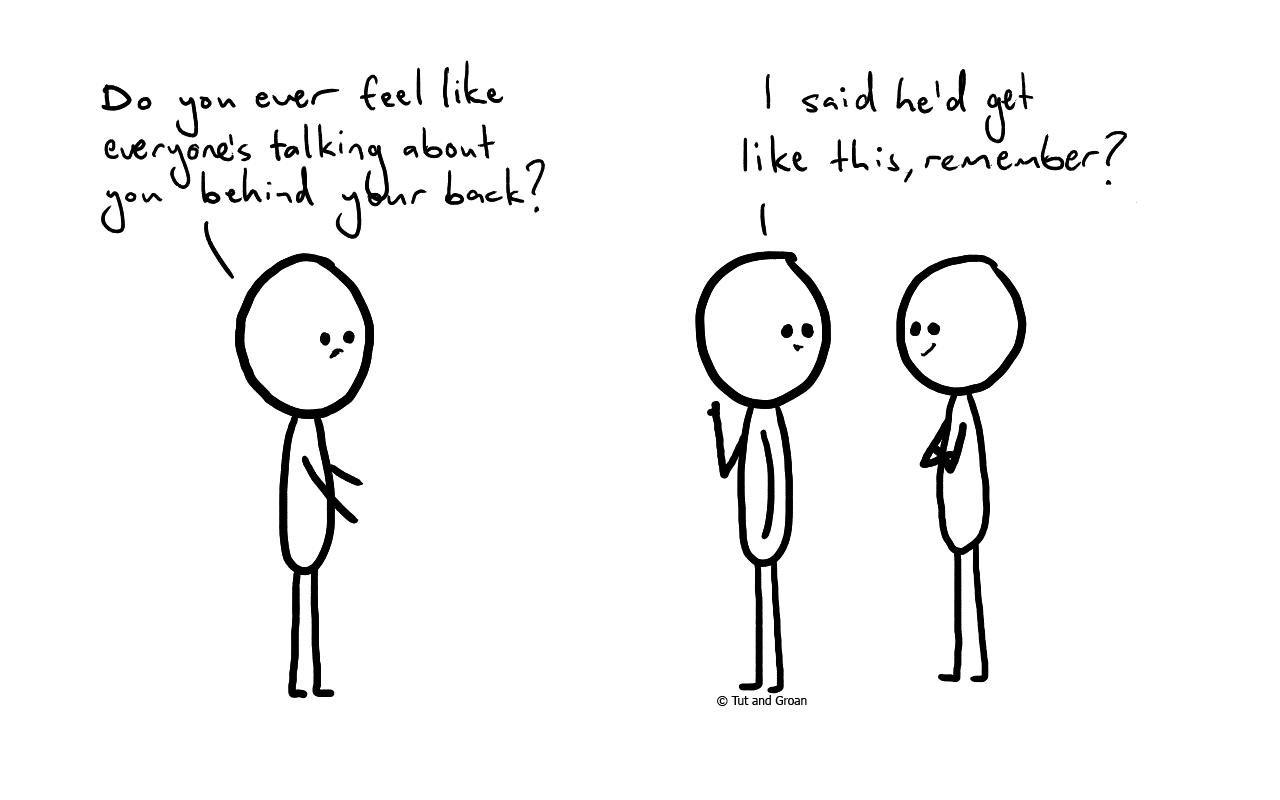 Tut and Groan Paranoid cartoon